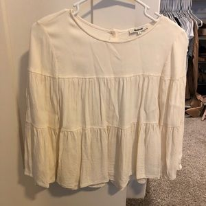 Madewell peasant blouse